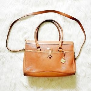 Vintage Dooney & Bourke Tan Leather Satchel